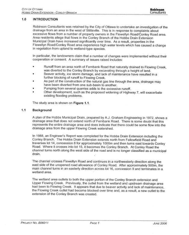 Report template excerpt from drainage review report from robinson consultants document 3 pronofoot35fo Choice Image
