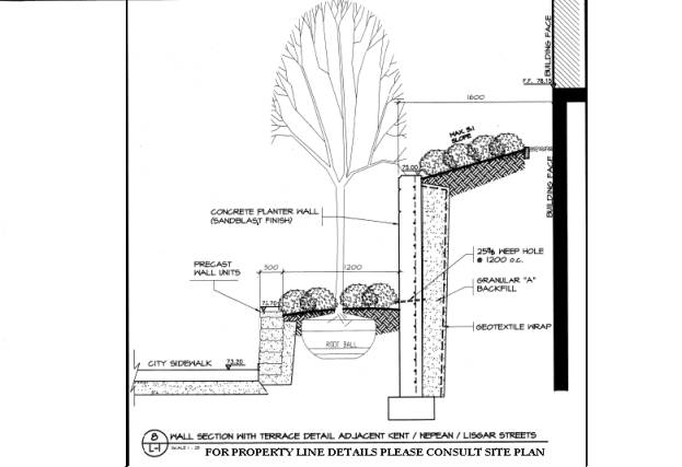 Concrete Retaining Wall Detail Section submited images