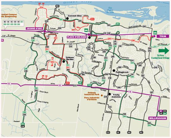 Exhibit 11 Orleans Recommended Route Network Concept
