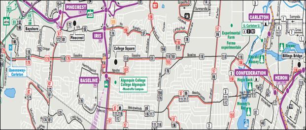 Bus Routes Along Baseline Road 2011