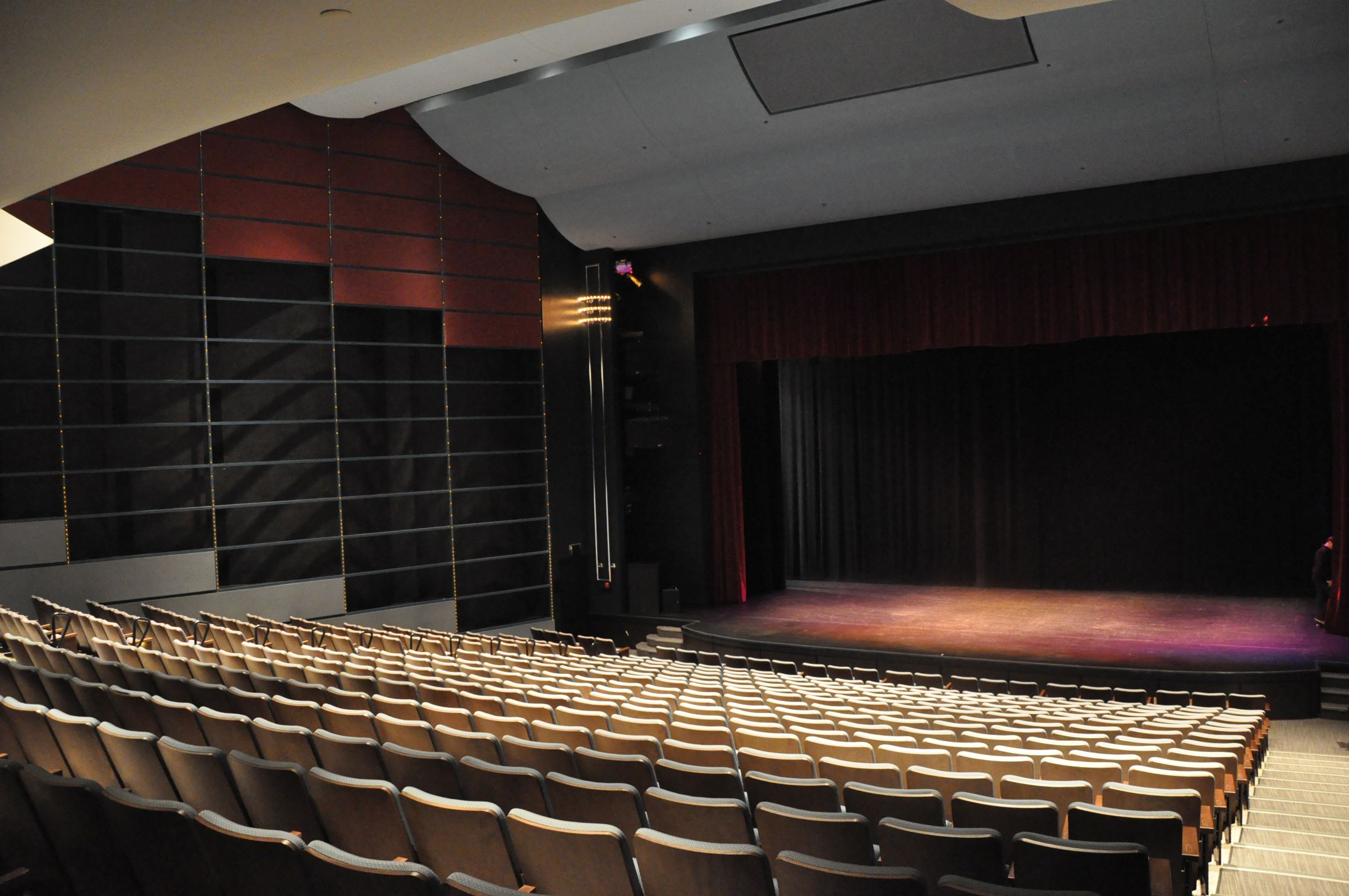 Interior view of the Centrepointe Theatre mainstage and seating area.
